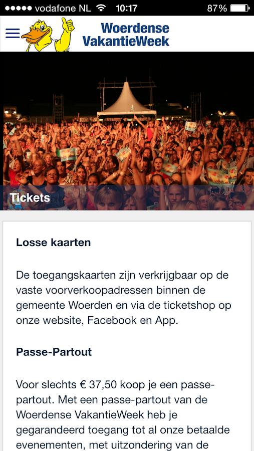 VakantieWeek - screenshot