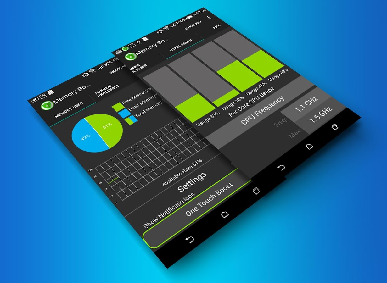 memory booster cpu monitor android apps on google play. Black Bedroom Furniture Sets. Home Design Ideas