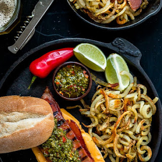 Bacon Choripan with Chimichurri Sauce