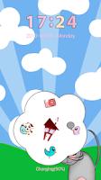Screenshot of GO Locker Cute Animals Theme
