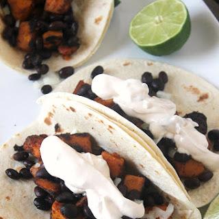 Chipotle Sweet Potato Black Bean Tacos