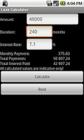Screenshot of Bank Calculator
