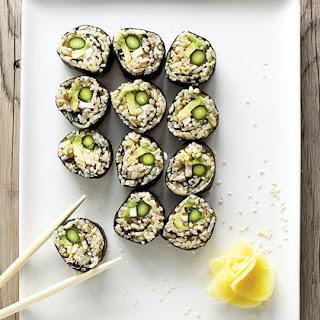 Asparagus & Avocado Sushi
