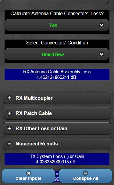 Wireless Mic & IEM RSSI Calc- screenshot
