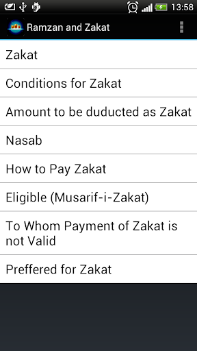 Ramzan and Zakat
