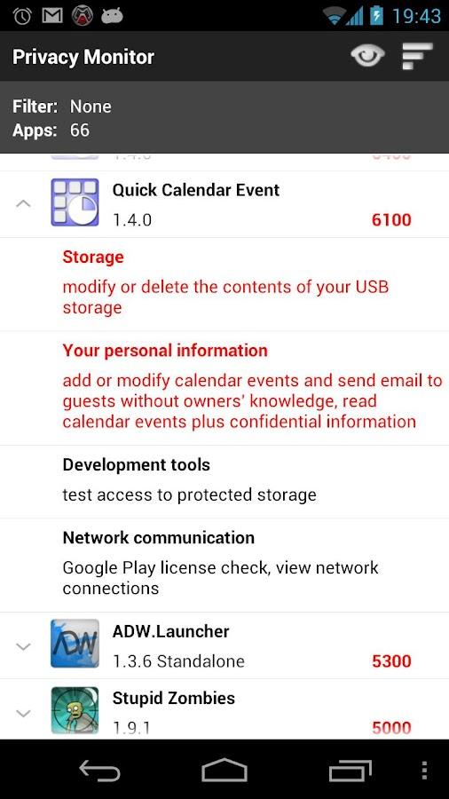 Privacy Monitor- screenshot