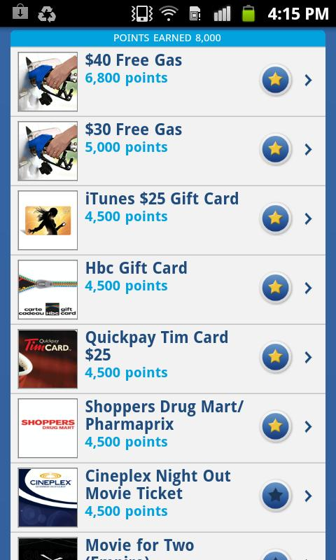 Esso Extra App - screenshot