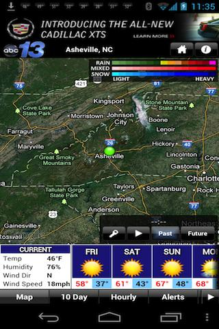 WLOS WX - screenshot