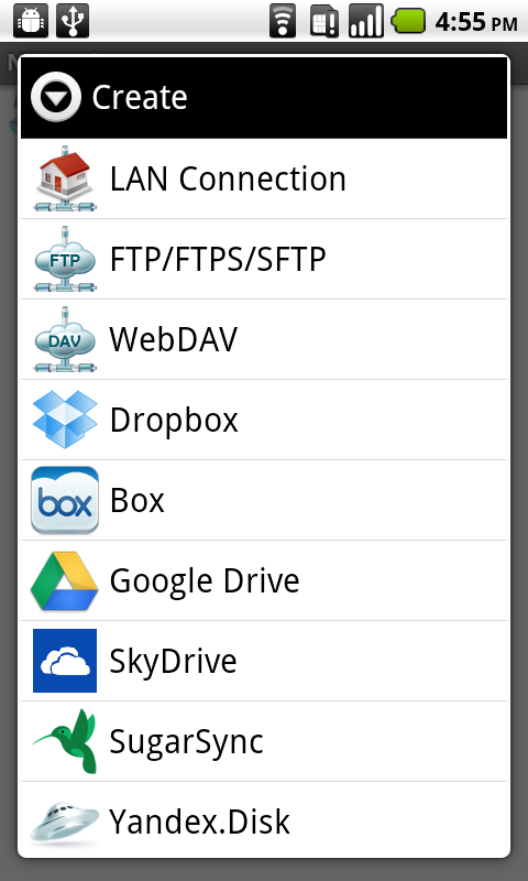 File Manager (Explorer) - screenshot
