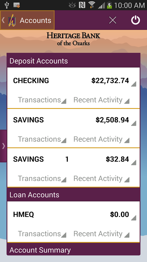 HBO Mobile Banking- screenshot