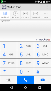 Media5-fone VoIP SIP Softphone- screenshot thumbnail