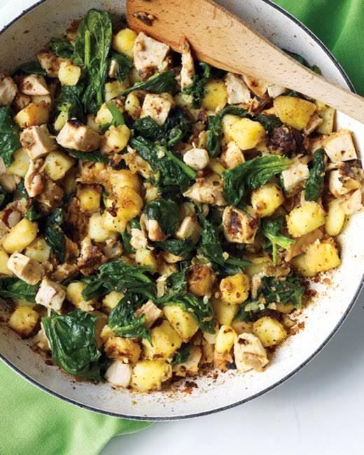 Chicken, Spinach, and Potato Hash Recipe