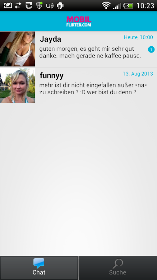 MobilFlirter – Screenshot