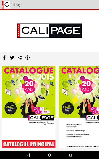 Calipage - Catalogue 2015