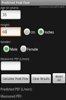 Screenshot of Predicted Peak Flow App