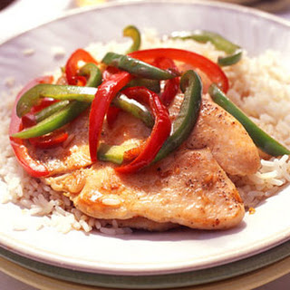 Glazed Turkey Cutlets and Bell Peppers.