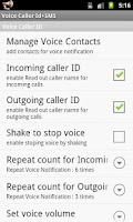 Screenshot of Voice Caller ID + SMS Pro