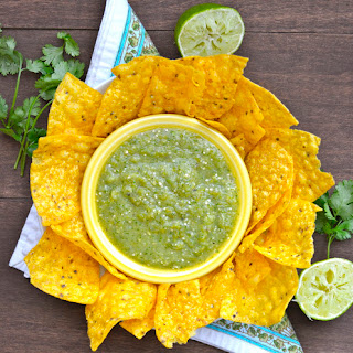 Roasted Tomatillo and Jalapeno Salsa