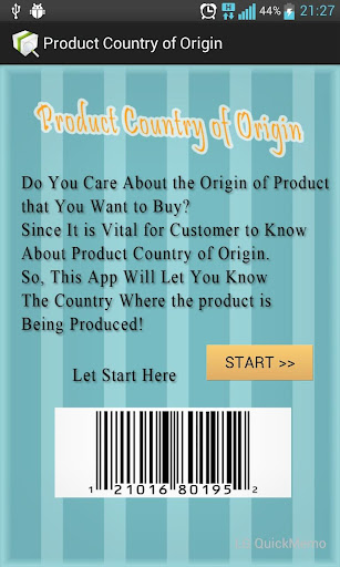 Product Country of Origin