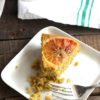 Upside Down Blood Orange Polenta Cake
