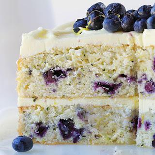 Blueberry Zucchini Cake With Lemon Buttercream