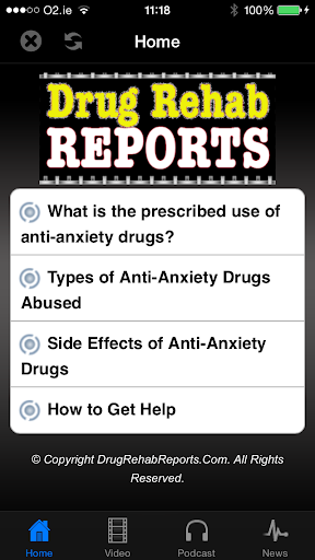 Anti-Anxiety Drugs Abused
