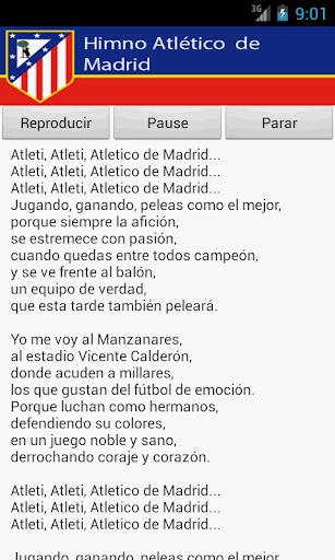 Atletico Madrid Anthem