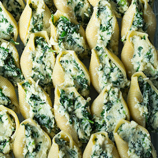 Spinach and Cheese Stuffed Shells.