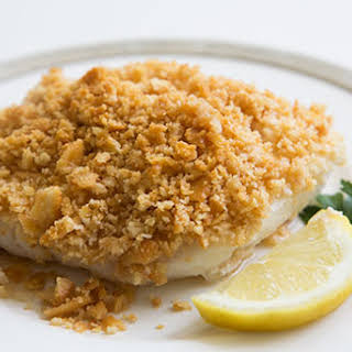 Baked Cod with Ritz Cracker Topping.