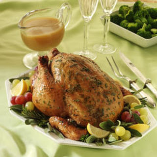 Roasted Chicken With Fresh Herbs & Shallot Gravy