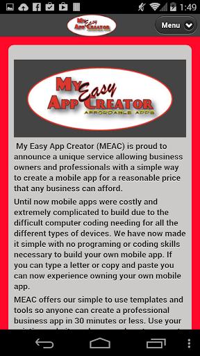 My Easy App Creator Mobile App