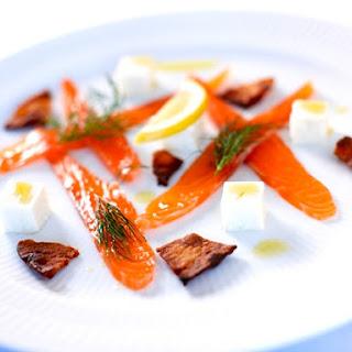 Smoked Salmon With Sunchoke Paté