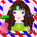 Kids Hair salon hairdo barber icon