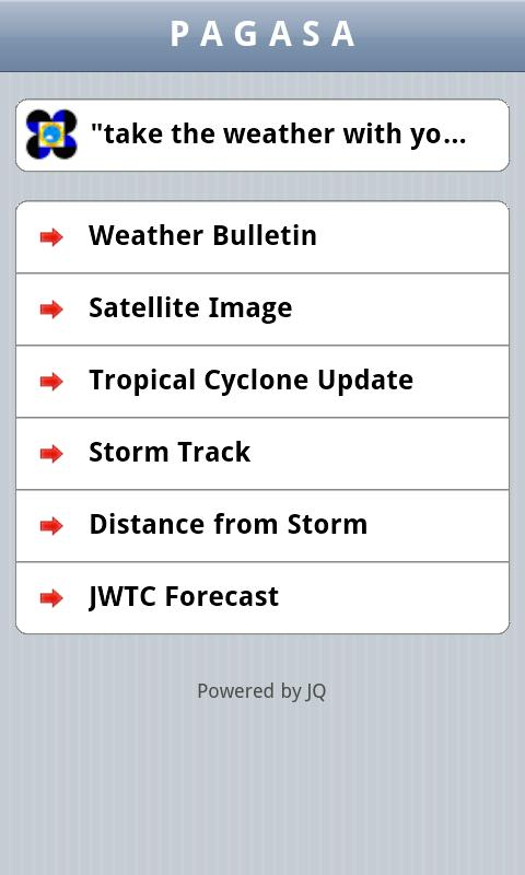 PAGASA Mobile - screenshot