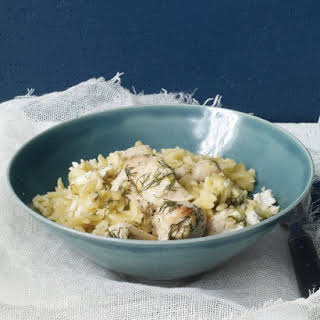 Chicken, Lemon, and Dill with Orzo.
