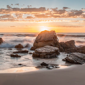 Inspiration by Sharon Wills - Landscapes Sunsets & Sunrises ( water, south australia, sand, waves, beach, o'sullivans beach, views, sunset, sunrise, earth, landscapes, light, golden hour,  )