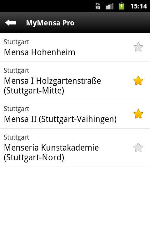 MyMensa- screenshot