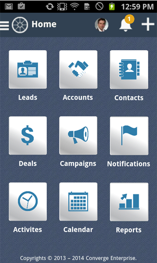 ConvergeHub CRM- screenshot