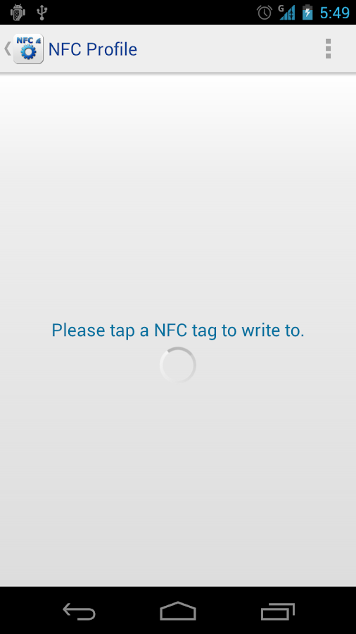 NFC Profile - screenshot