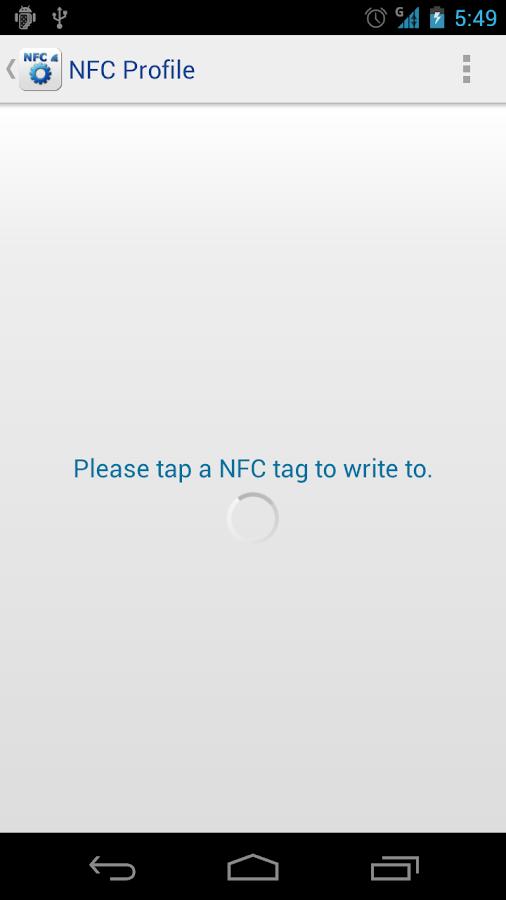 NFC Profile - screenshot