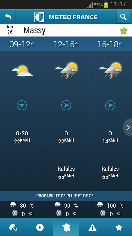 Météo-France - screenshot