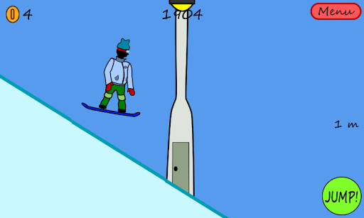 Antibored Snowboarder with Ads