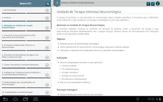 Screenshot of Neurointensive Care Guide