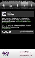 Screenshot of ISAAC 98.1 FM Radio