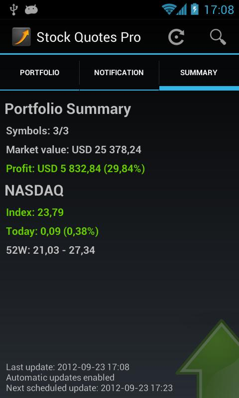 Stock Quotes - screenshot