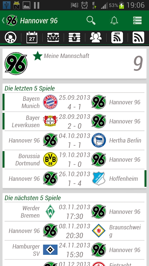 Hannover 96 App - screenshot