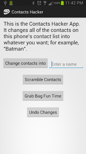 Contacts Hacker - Prank App