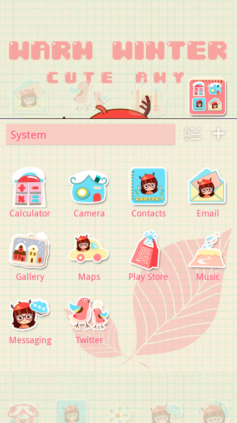 Warm Winter GO Launcher Theme - screenshot