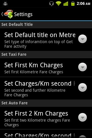 Taxi Fare Calculator - screenshot