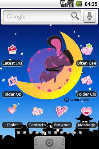 Rabbit on the moon Full Theme - screenshot